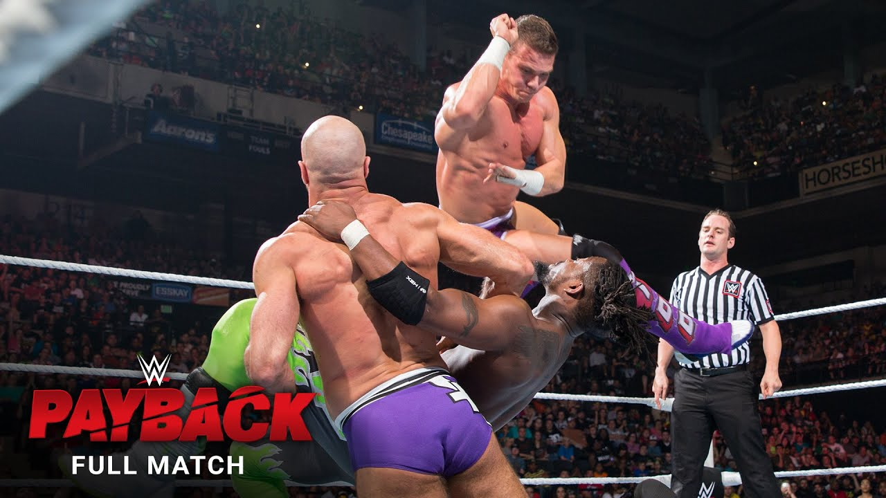 FULL MATCH: New Day vs. Cesaro & Kidd - Tag Team Titles 2-Out-Of-3 Falls Match: WWE Payback 2015