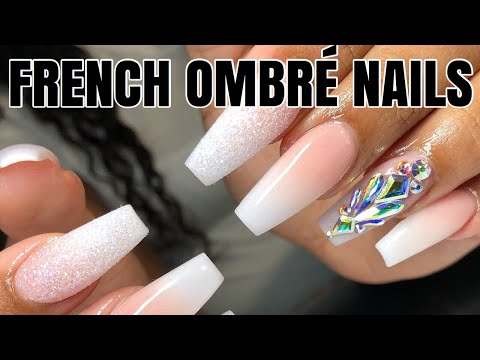French ombre coffin nails tutorial