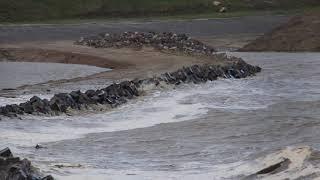 Hoog water in Delfzijl & Eemshaven