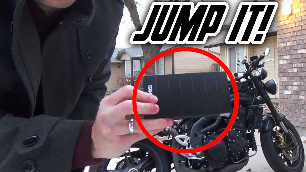 Use a Battery to Jump Start a Motorcycle - GooLoo Review - YouTube