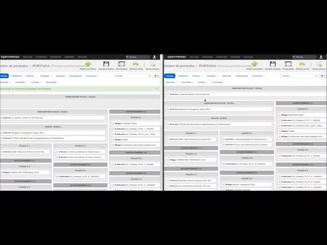 Opennemas - Usuarios simultaneos con el gestor de portadas