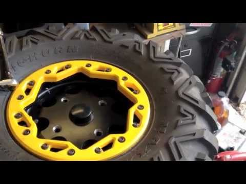 How To Install Tires On Beadlock Rims Youtube