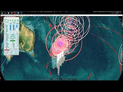 10/01/2017 -- Earthquake Forecast misses -- Large Earthquake threat passes 7 day mark - 동영상