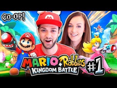 Ali + Clare TEAM UP - NEW ADVENTURE! - Mario + Rabbids: Kingdom Battle #1