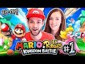 Ali + Clare TEAM UP - NEW ADVENTURE! - Mario + Rabbids: Kingdom Battle #1