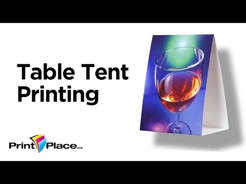 fast table tent printing starting from 51 printplace