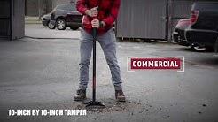 Tamping Ground Surfaces 10x10 Tamper