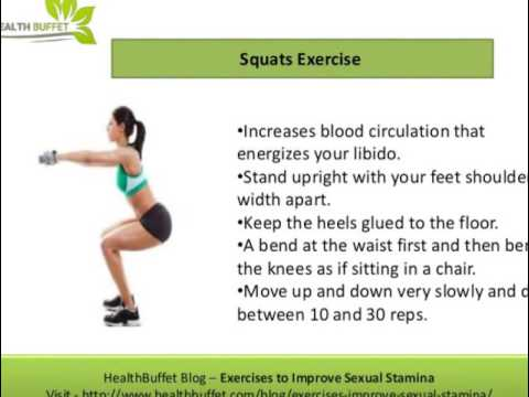 How to build sexual stamina by exercise