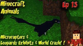 Minecraft Animals Ep13 Leopards & Microraptors World Disaster Corruption Meltdown