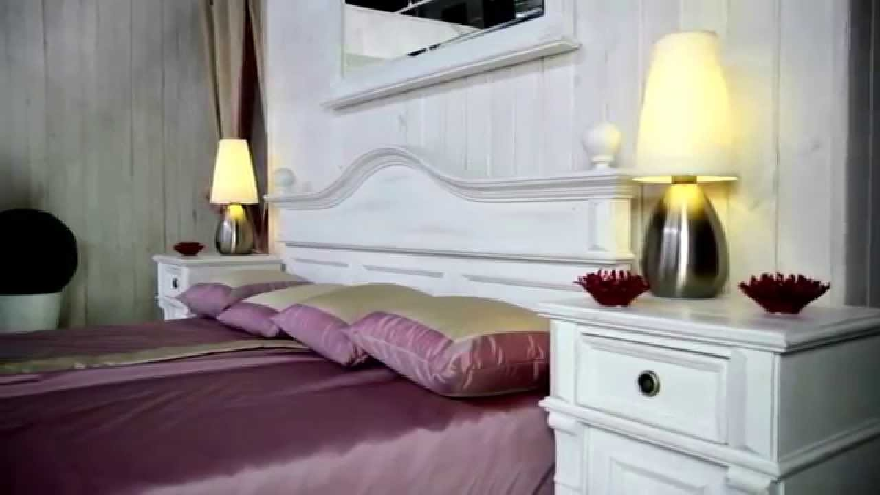 massive holzm bel im landhausstil shabby chic wei youtube. Black Bedroom Furniture Sets. Home Design Ideas