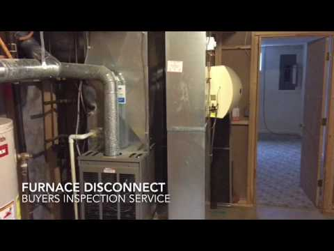 Remodeling beside a furnace may require a service disconnect switch