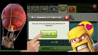 Balloon Level 8 Upgrade : Hammer of fighting | Clan War League Reward | CLASH OF CLANS ( COC )
