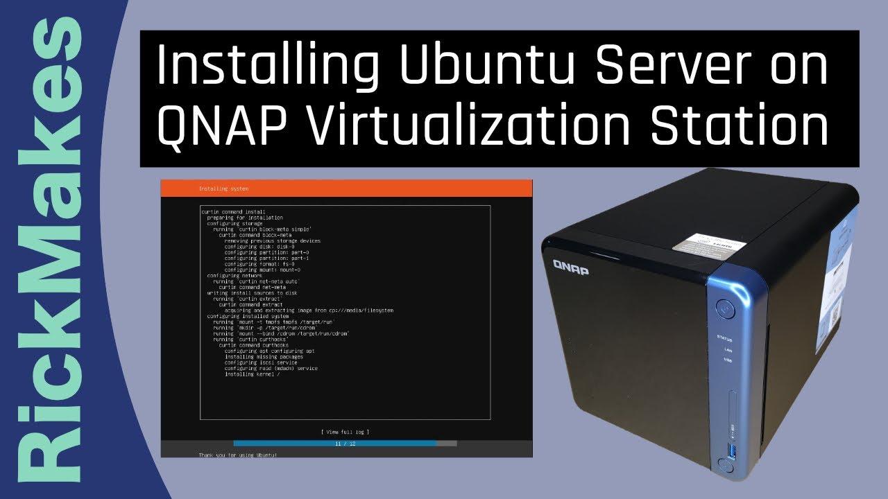 Installing Ubuntu Server on QNAP Virtualization Station