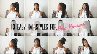 how i style box braids   13 easy styles