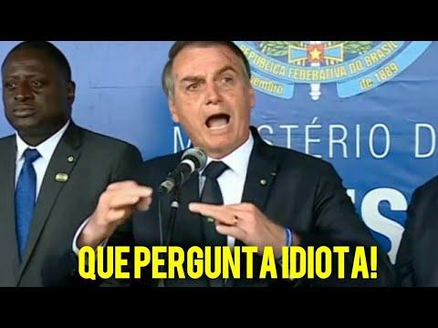 Bolsonaro dá um direto na cara de jornalista após fazer pergunta idiota em coletiva