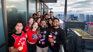 WE THE NORTH: A birthday and Raptors viewing party 51 floors above Jurassic Park