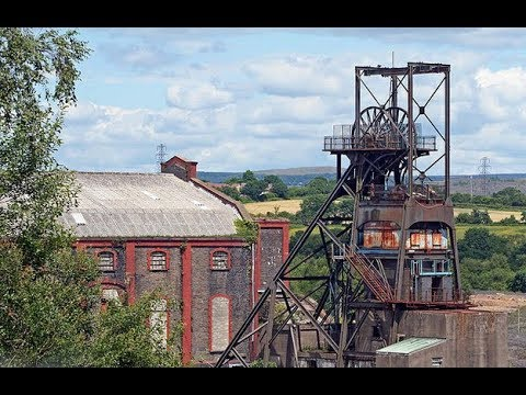 ABANDONED 20TH CENTURY PENALLTA COLLIERY SOUTH WALES