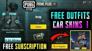 HOW TO GET FREE OUTFITS AND CAR SKINS IN PUBG MOBILE   CRATE OPENING