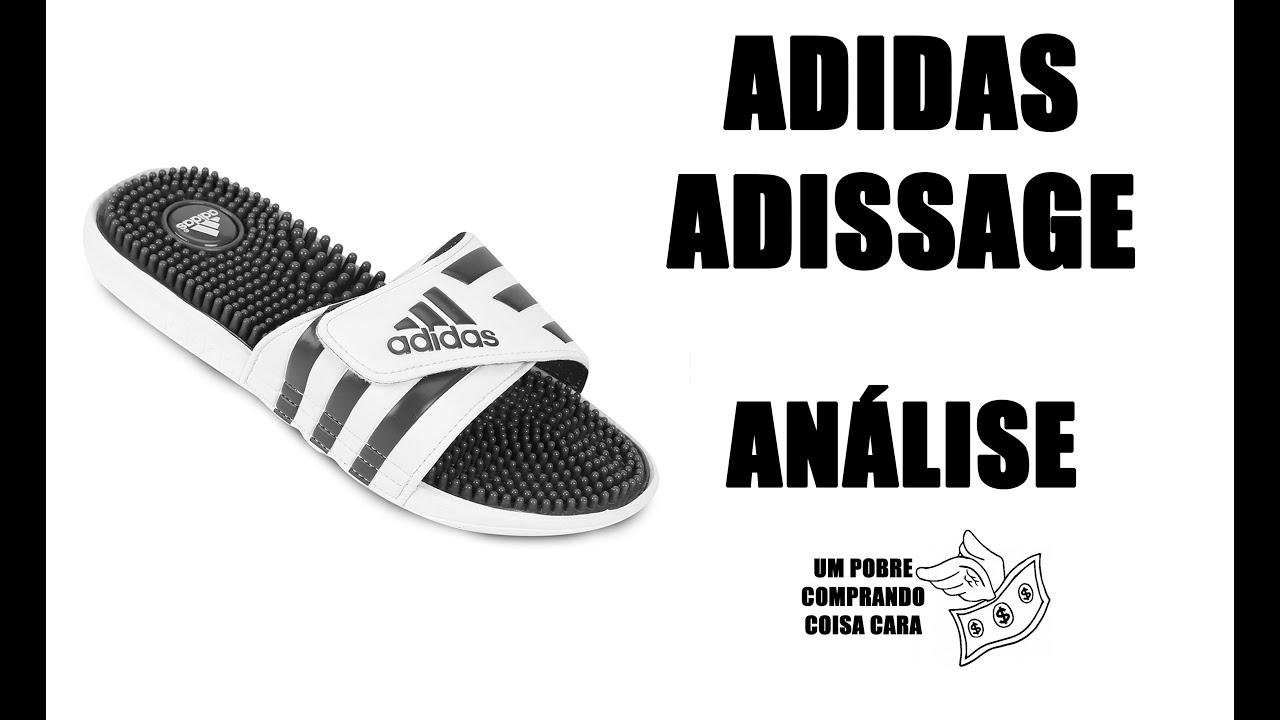 b3cf5f6265 Chinelo Adidas Adissage   Análise   Review   Lateral descolou. E agora  Adidas