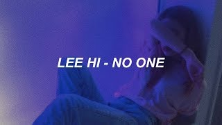 LEE HI - '누구 없소 (NO ONE) (Feat. BI of iKON)' Easy Lyrics