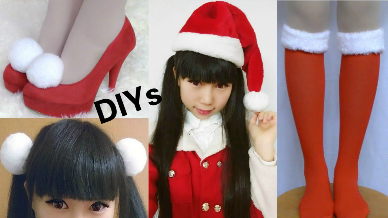Christmas Shoes Diy.Christmas Diys Diy Santa Hat Diy Snowballs Christmas Shoes Hair Clips Socks Cheap Haul