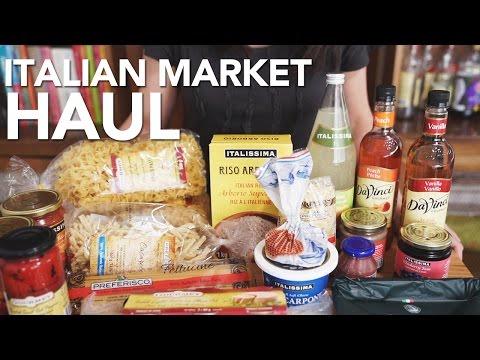 ITALIAN GROCERY HAUL - My Italian Market Basics