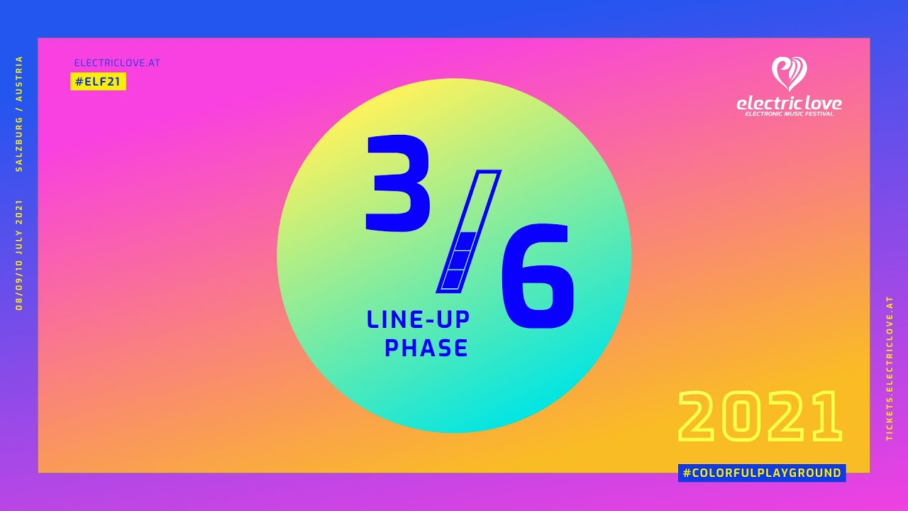 Electric Love Festival 2021 Line-Up Phase 3 of 6