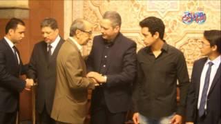 حمدي قنديل في عزاء الإعلامي أمين بسيوني