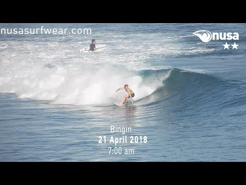 21 - 04 - 2018 /✰✰ / NUSA's Daily Surf Video Report from the Bukit, Bali.