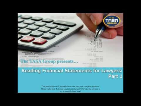 Reading Financial Statements for Lawyers: Part 1