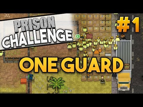 Prison Architect Challenge: ONE GUARD ★ FIELD OF PEE! (#1) - Prison Architect User Challenge
