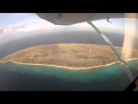 Flying over Klein Curacao
