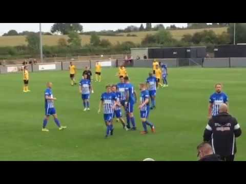Corby town score to go two nil up against Loughborough dynamo 23/09/17 part 2