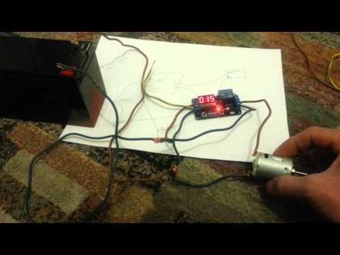 dc 12v led display digital delay timer control switch module plc