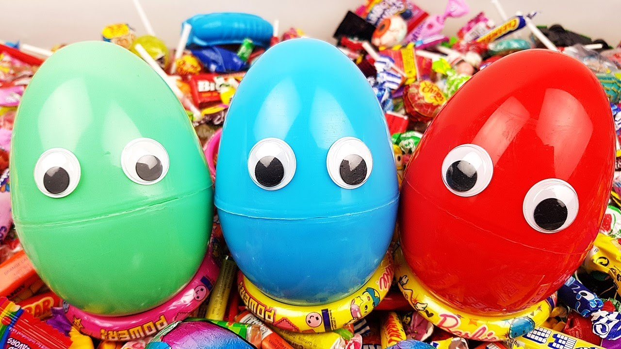 Emoji Surprise Eggs A lot of Candy and Toys -  Kids Songs