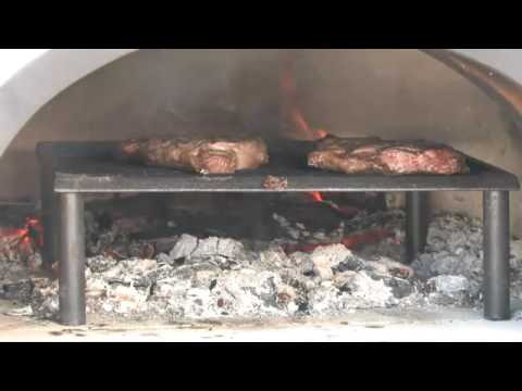 cooking a steak in your pizza oven youtube. Black Bedroom Furniture Sets. Home Design Ideas