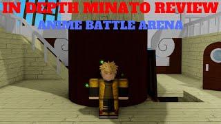 IN DEPTH MINATO SHOWCASE!!! | ANIME BATTLE ARENA [ROBLOX] [SHOWCASE]