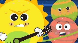 The Planet Song ☀🌛 | Nursery Rhyme With Lyrics ★ ★ | Solar System Song For Children