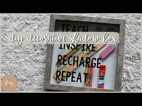 DIY Classroom Decor⎪Decorative Shadow Box