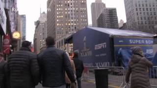 Gothic Style Subway entrance  Manhattan  Russian music & Khrushchev speech ESPN Super Bowl Herald Sq