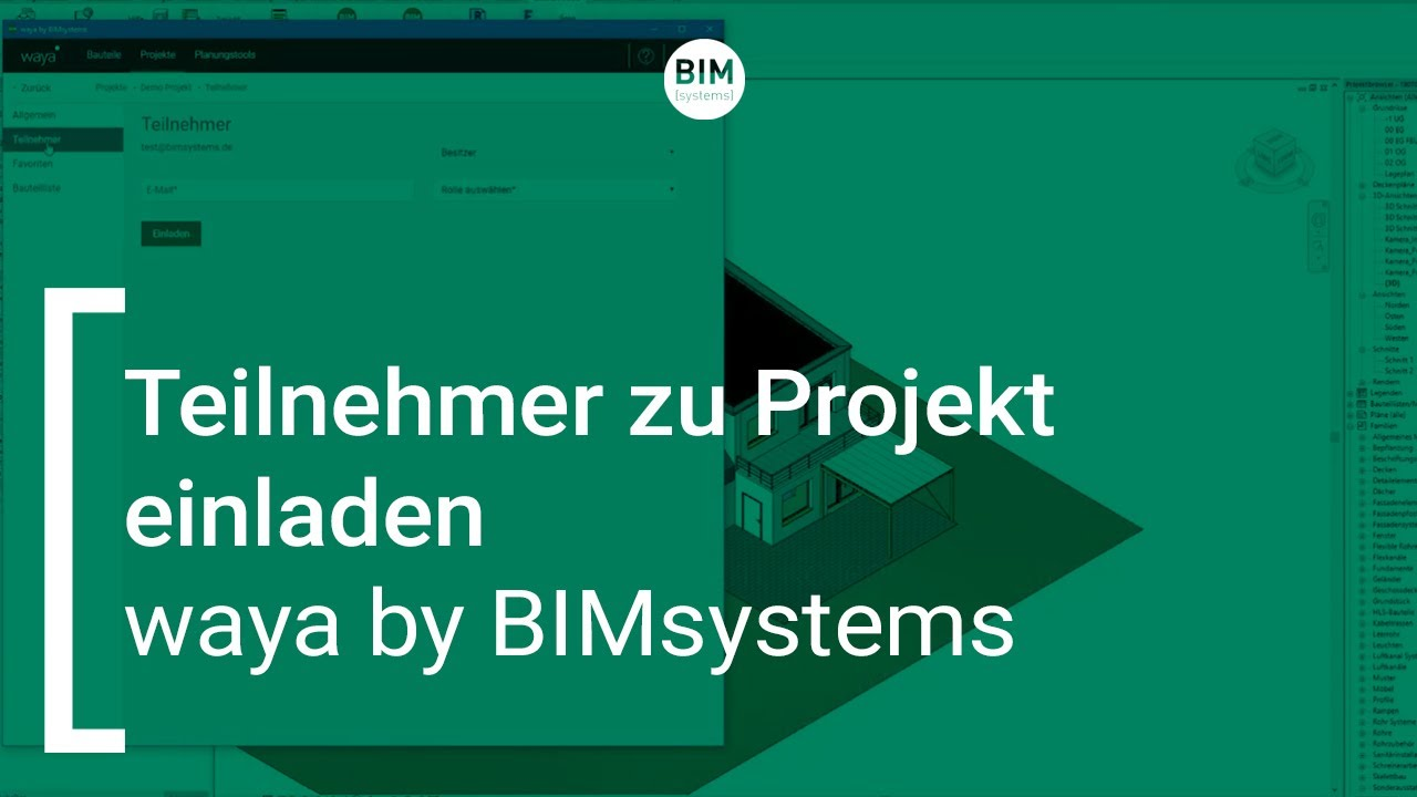 waya by BIMsystems |  Teilnehmer zu Projekt einladen