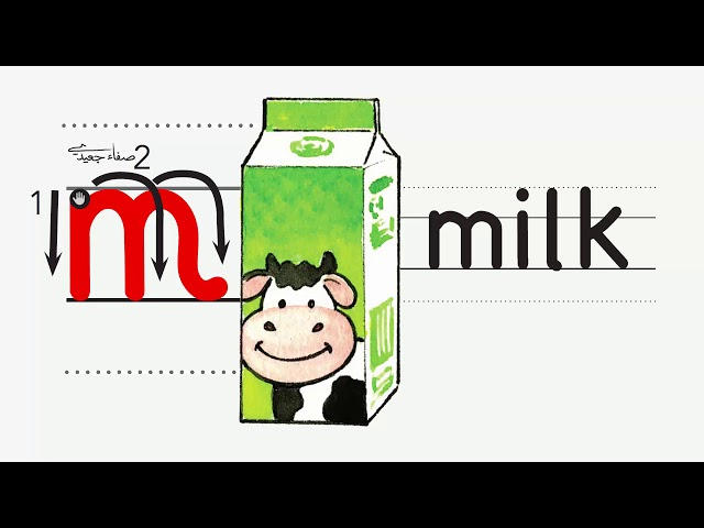 M m اسم وصوت ورسم الحرف