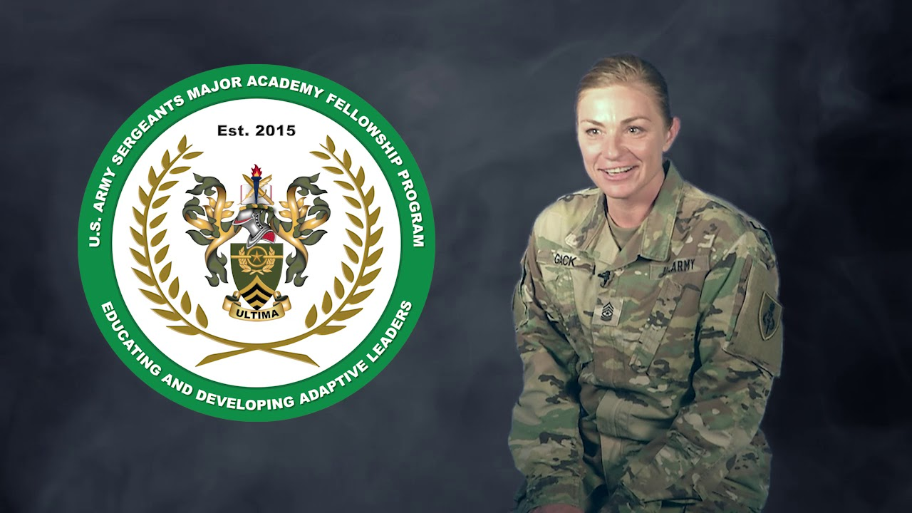 The U.S. Army Sergeants Major Academy Fellowship Program is a broadening program which selects 20 sergeants major every year to attain a master's degree in Lifelong Learning and Adult Education from Pennsylvania State University or a degree in Instructional Design, Development and Evaluation from Syracuse University.
