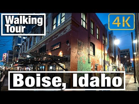 4K City Walks: Boise, Idaho Virtual Treadmill Walking Tour