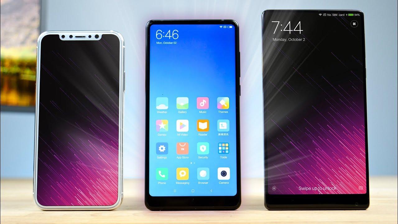 Xiaomi Mi Mix 2, Xiaomi Mi MIX and iPhone X - Comparison