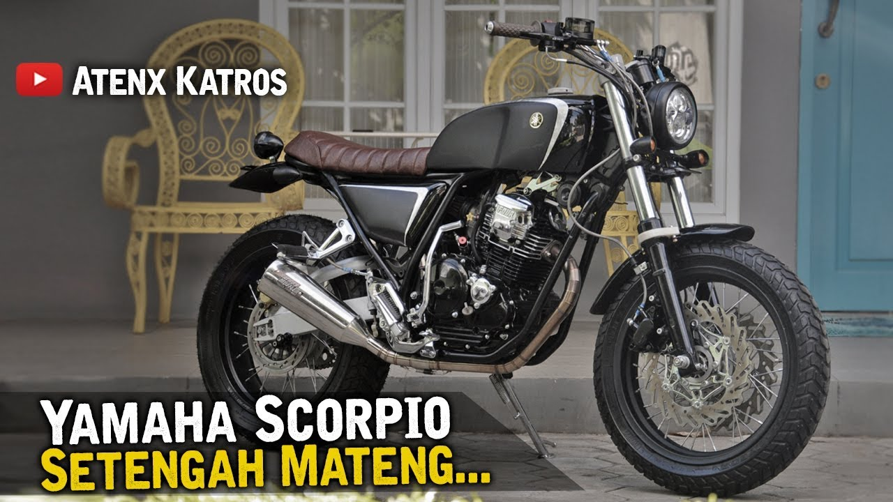 Modifikasi Yamaha Scorpio Street Tracker [Garage Vlog