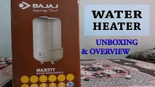 Bajaj water heater geyser(3L)-Unboxing & overview!