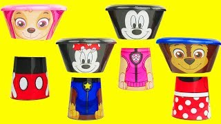 paw patrol food eating contest with mickey mouse to learn color  match wrong heads   sparkle spice