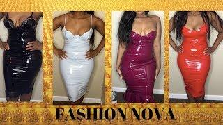 FASHION NOVA HAUL! LATEX DRESSES....GOOD OR BAD?