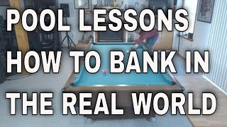 HOW TO SHOOT BAΝKS SHOTS, IN THE REAL WORLD (POOL LESSONS)